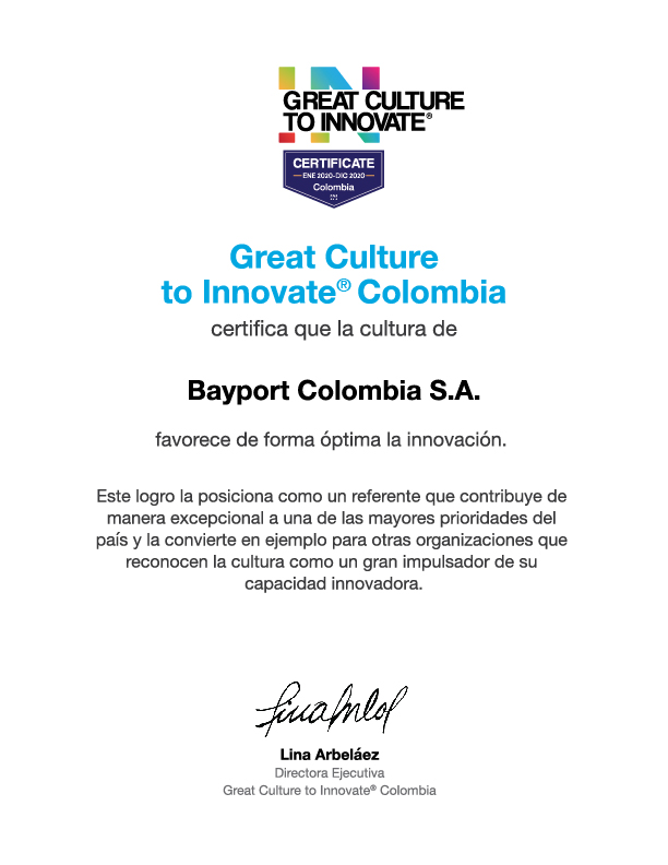 Great Culture To Innovate reconoce excelencia de Bayport